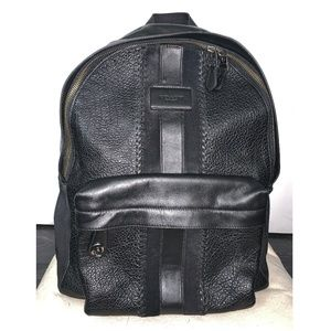 COACH Campus Backpack With Baseball Stitch. BLACK